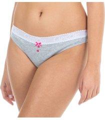 calcinha biquíni algodão canelado mescla capricho - 426.022 capricho lingerie básica multicolorido