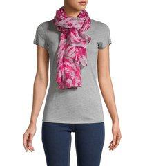 calvin klein women's tie-dyed scarf - flamingo