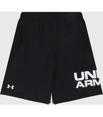 pantaloneta negro-blanco under armour tech wordmark