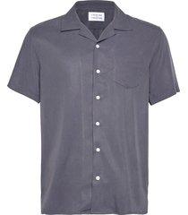 cave s/s overhemd met korte mouwen blauw libertine-libertine