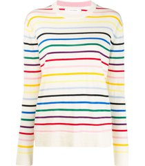chinti and parker thin striped sweater - neutrals