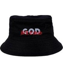 chapéu bucket skull clothing god bless - masculino