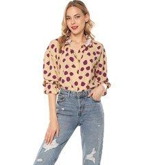 blusa amarillo-violeta glamorous