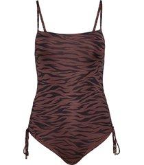 swim suit jenna baddräkt badkläder brun lindex