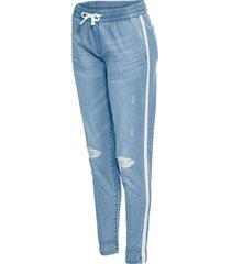 jeans baggy  con allacciatura elastica (blu) - rainbow