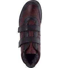 skor med kardborreband semler svart::bordeaux