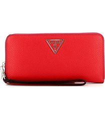 guess womens red wallet