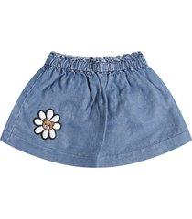 moschino light blue skirt for babygirl with flower
