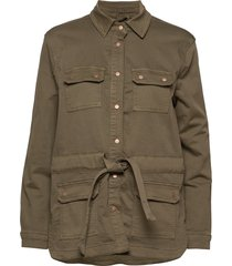 cami jog denim jacket outerwear jackets utility jackets groen cream