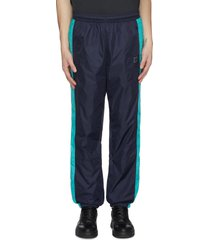 face patch panel outseam nylon track pants