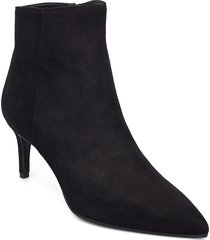 pointed bootie low - high front shoes boots ankle boots ankle boot - heel svart apair