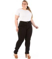 calça jeans plus size - confidencial extra  legging básica preta - kanui