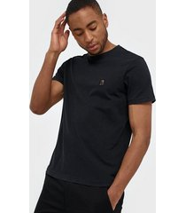 parajumpers pjs m patch tee t-shirt t-shirts & linnen black