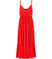 midi jurk monaco rood