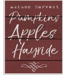 "stupell industries autumn harvest activities wall plaque art, 10"" x 15"""