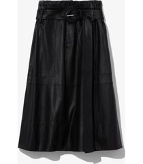 proenza schouler white label leather belted skirt black 0