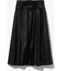 proenza schouler white label leather belted skirt black 4