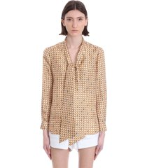 tory burch blouse in multicolor silk