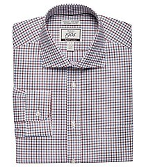1905 collection extreme slim fit cutaway collar plaid dress shirt with brrr°® comfort clearance, by jos. a. bank