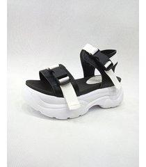 sandalia blanca/negra sibenik