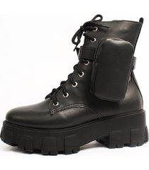 bota coturno damannu shoes oprah com pochete napa preto