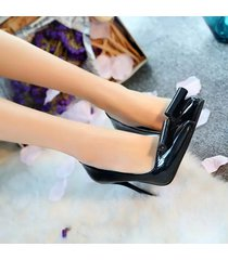 pp341 elegant pointy pumps in candy color with rolling top,us size 5.5-8, black