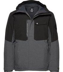 powderstash jacket m outerwear sport jackets grijs salomon