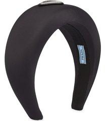 prada wide headband - black