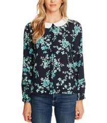 cece floral-print peter pan-collar top