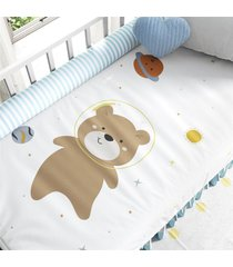 edredom berã§o amiguinhos urso astronauta grã£o de gente marrom - marrom - menino - dafiti