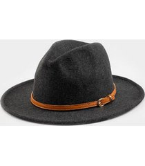 claudia heathered band panama hat in black - black