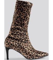 trendyol leopard patterned boots - multicolor