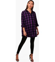 maternity ella oversized flannel shirt, purple