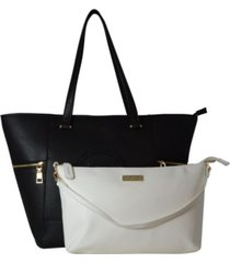 bebe rumi easy 2-piece tote with pouch