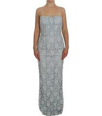 floral lace schede maxi jurk