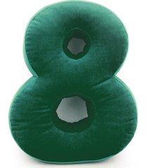 poduszka cyferka 8 velvet zielona