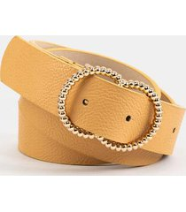 jazmine twisted double circle belt - tan