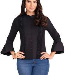 blusa allison negro para mujer croydon