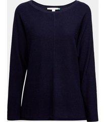 sweater texturado azul esprit