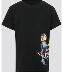 t-shirt i bomull - svart