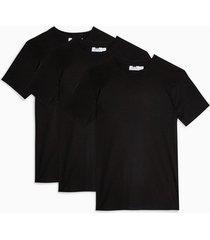mens 3 black t-shirt multipack*