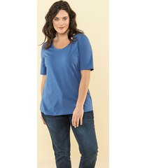 basic shirt janet & joyce lichtblauw