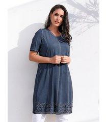 jurk miamoda jeansblauw