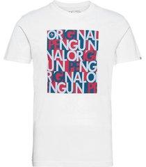 graphic word logo t-shirt t-shirts short-sleeved vit original penguin