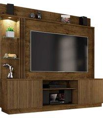 estante atlanta p/ tv até 65 polegadas madeira rústica móveis bechara