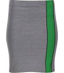falda tubo con franja color gris, talla 6
