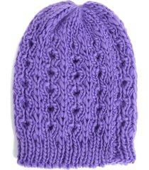 gorro violeta boerss trenzado