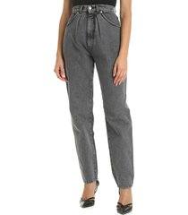 alberta ferretti - delavè grey high-waisted jeans