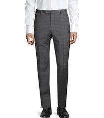checkered wool pants