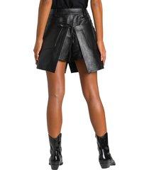 alexander wang apron leather mini skirt